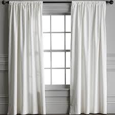 Cotton Canvas Curtains Cotton Canvas Rod Pocket Drape Ivory Williams Sonoma