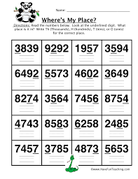 place value worksheet page 3 of 4 have fun teaching