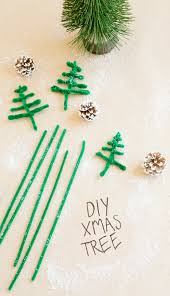 diy christmas tree kids pipecleaner crafts play doh town fun
