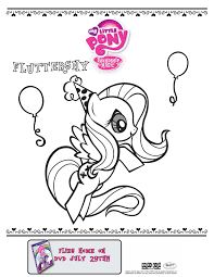 my little pony fluttershy coloring print out that u0027s kid stuff