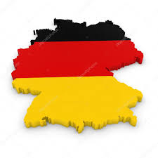 The Germany Flag 3d Outline Of Germany Textured With The German Flag U2014 Stock Photo