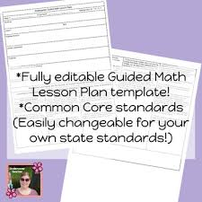 guided math lesson plan template u0026 checklists bundle editable