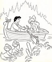disney ariel and eric coloring pages getcoloringpages com