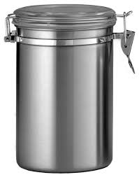 contemporary kitchen canisters 3 5 stainless jar with plastic cl lid each contemporary