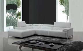 Modern Leather Sofa Casa Citadel Modern White Eco Leather Sectional Sofa W Audio System