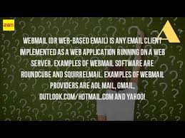 what is a web based email service youtube