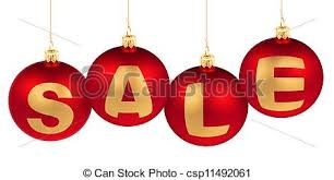sale word made of tree decoration balls for stock