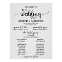 black and white wedding programs black and white wedding programs gifts on zazzle