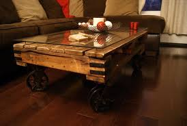wood coffee table with wheels reclaimed wood pallet coffee table table designs plans pinterest