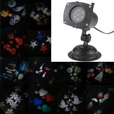 Rotating Night Light Projector Tomshine Christmas Pumpkin Ghost Heart Snowflake Rotating Led
