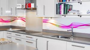 abstract waves printed glass splashback youtube
