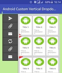 layoutinflater applicationcontext android how to create a vertical dropdown with menu with gridview