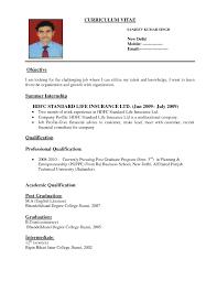 Sample Resume For Finance Resume For Jobs Examples