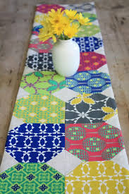 Modern Table Runners Folk Modern Table Runner By The Long Thread Project Quilting