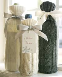 gift packaging for wine bottles wine bottle sweater sleeves upcycle a sweater and use it as a