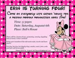 minnie mouse invitation template bing images entertaining