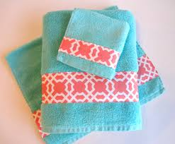 bathroom dazzling patterned towels colorful bath towels