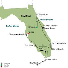 Mexico Beach Florida Map by Highlights Of Sunny Florida With Extended Stay In Clearwater Beach