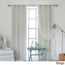Victoria Classics Curtains Grommet by Aurora Home Mix And Match Blackout Check Sheer Silver Grommet
