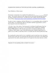 journal cover letter example documents letters samples download