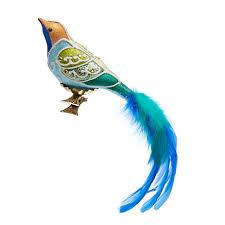 garden lover s blue green bird clip ornament gump s