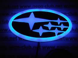 subaru emblem black 4d subaru blue neon logo