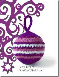 tree ornament free knitting pattern