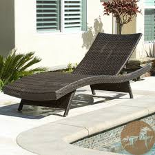 Modern Patio Lounge Chair Chaise Lounges Living Outdoor Adjustable Brown Wicker Chaise