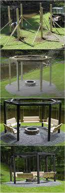 Firepit Swing Backyard Pit With Swing Seats