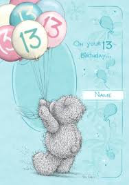 me to you happy 13th birthday balloons funky pigeon