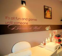 breaks a nail salon wall decal nail salons salons and wall decals