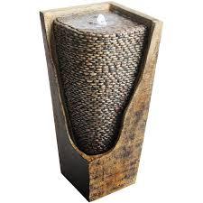 garden treasures pebble vase outdoor fountain lowe u0027s canada