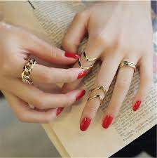 gold knuckle rings images Arrow shape knuckle rings punk cuff finger ring gift for women jpg