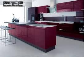 Contemporary Kitchen Design 2014 Purple Kitchen Interior Design And Contemporary Kitchen Design