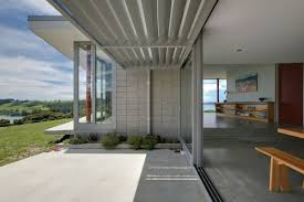 terrace design at summer cottage in matakana new zealand bourke