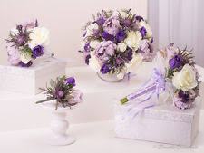 purple wedding flowers wedding purple mixed bouquet ebay