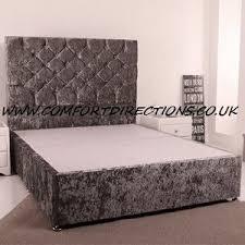 Silver Velvet Headboard by Crushed Velvet Ottoman Gaslift Bed 54 U0027 U0027 Headboard Ice Silver