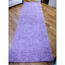Lilac Runner Rug Shaggy Pile Runner Rug 95 X 305cm Lilac Free Shipping