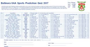 list please predict who the ballinoragaa team from ballinora co corkballinora gaa