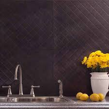 fasade backsplash quilted in smoked pewter