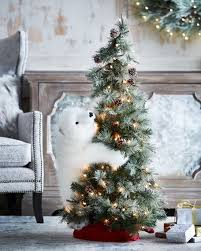 frosted christmas tree ditz designs by the hen house white on lighted frosted