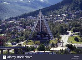 A Frame Building The Arctic Cathedral An A Frame Building Tromso Norway Stock