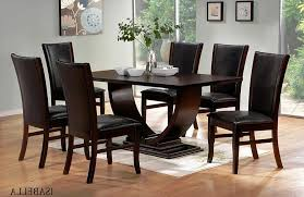 Black Wood Dining Table And Chairs Ciov - Black wood dining room set