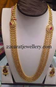 small balls chandra haram indian jewelry gold jewellery and gold