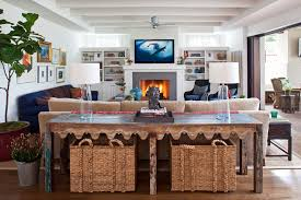 sofa console table with baskets sofa console table in beautiful