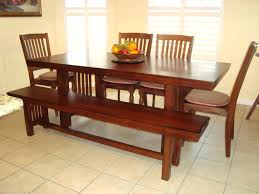 wooden bench style dining table reclaimed wood dining table and
