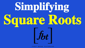 simplifying square roots fbt