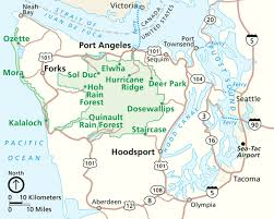 Sea Airport Map Gateway Towns To Olympic National Park My Olympic Park