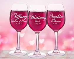 6 personalized wine glasses bridesmaids glass custom name