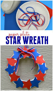 patriotic star wreath craft for kids the resourceful mama